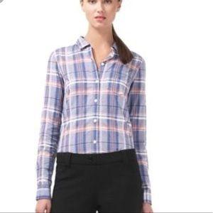 Theory Nikala Audrey's Plaid Button Up Shirt